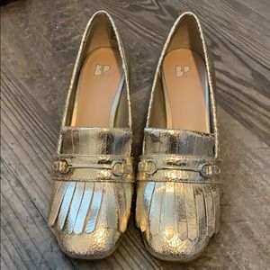 Nordstrom BP Gold shoes EUC. 7M